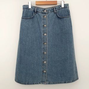 Topshop Moto jean skirt